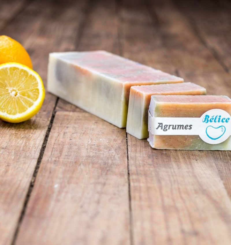 savon agrumes orange citron