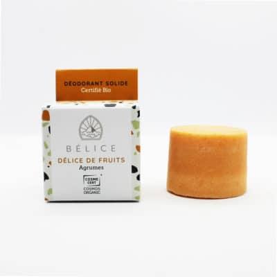 Déodorant solide certifié bio délice de fruits